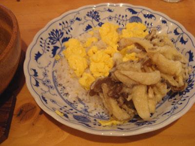 とら 十穀米+きのこミックス天ぷら×2