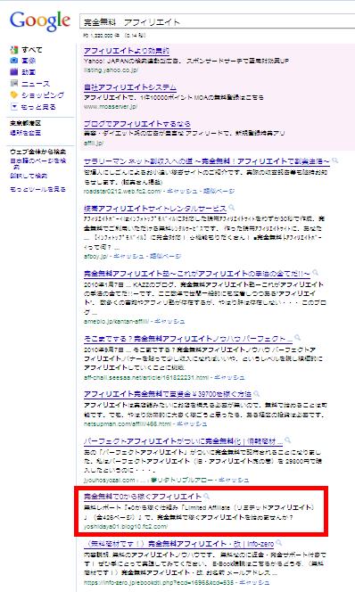 LimitedブログGoogle順位