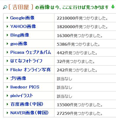Ritlweb画像検索の総合検索結果