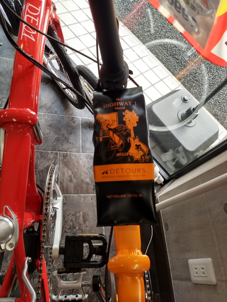 ちいさな自転車家 コーヒーバッグ ミニベロ 小径車