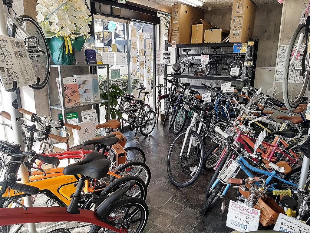 ちいさな自転車家 客注 店内 ミニベロ 小径車