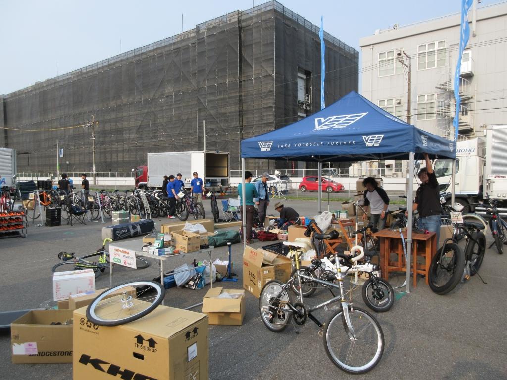 ちいさな自転車家 名古屋サイクルスポーツデイズ イベント 撤収作業