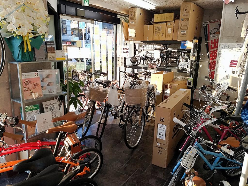 ちいさな自転車家 店内 繁忙期