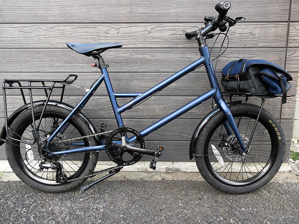 ちいさな自転車家 ライトウェイ グレイシア ミニベロ キャリア カスタム