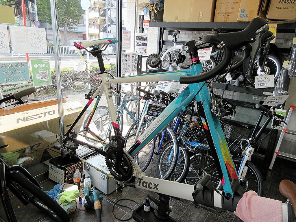ちいさな自転車家 ESR GSR HMR-700 初音ミク ロードバイク ハドラス ガラスコーティング
