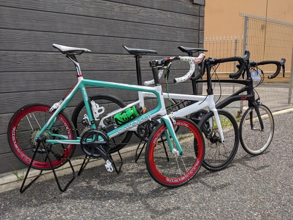 ちいさな自転車家 試乗 stijncycles CARACLE サイクルハート ミニベロ 三つ巴
