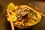 ベーコンとシイタケのサラダ