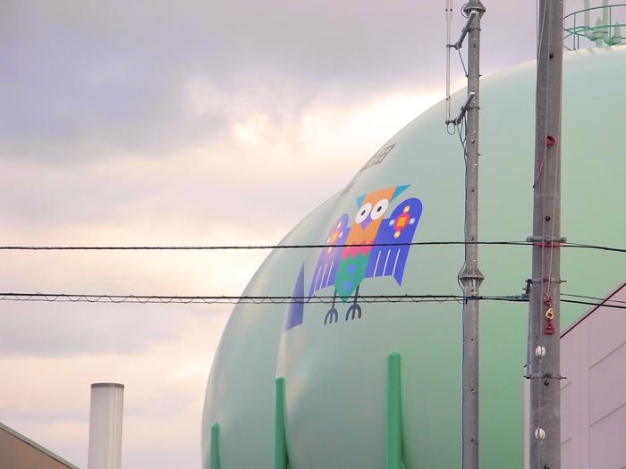 上田ガスのガスタンク
