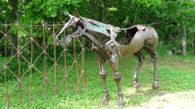 馬の鉄模型