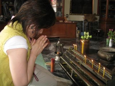 タイでお祈り