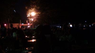 大通公園ビアガーデン消灯