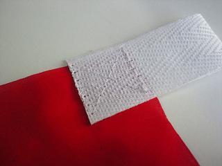 のぼりテープ縫い目