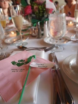 サンディエゴに住む大切な知り合いのアイリッシュスタイルの結婚式