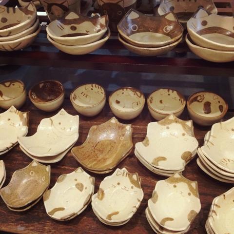 つぐみ製陶所 猫 皿