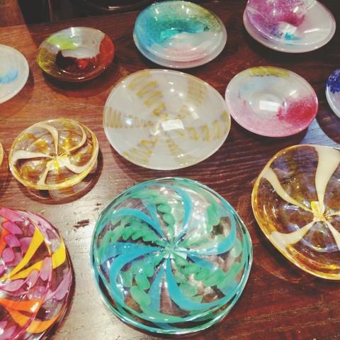 湊久仁子 ガラス 豆皿