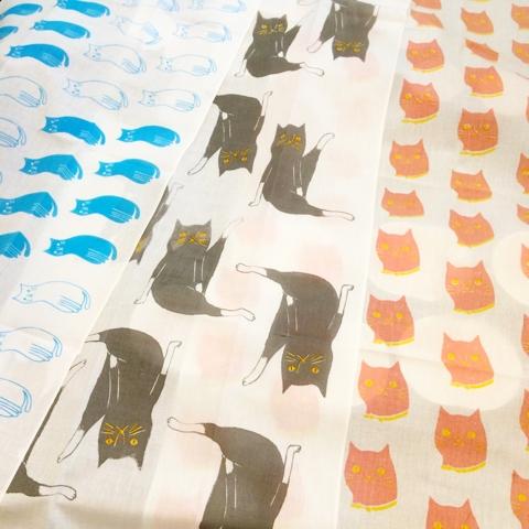 シオモトトモコ 手ぬぐい 猫
