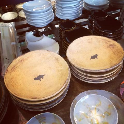 白亜器 猫 豆皿