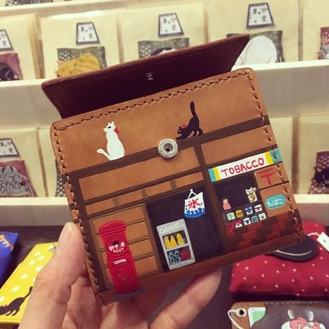 可愛革 猫 財布