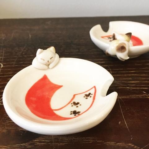 猫又 豆皿