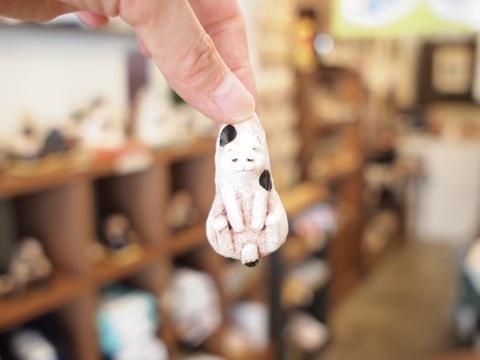 白亜器 ミニ吊るし猫