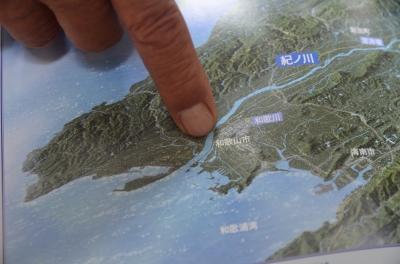 和歌山市の地図