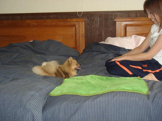ベッドで・・・