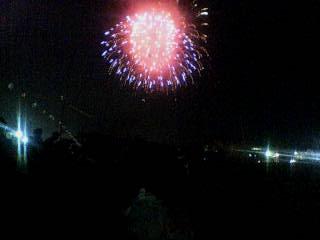 津山の夜の花火☆
