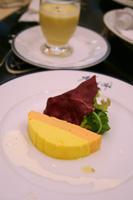 ミクニカフェ『前菜』/ホタテと海老のムース&冷たいコーンポタージュ