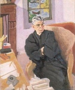 安井曾太郎の肖像画」   青い日...