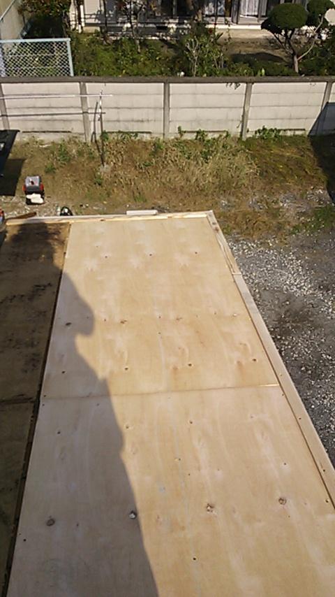 平塚市 木造平屋 台風により屋根の一部飛散 1
