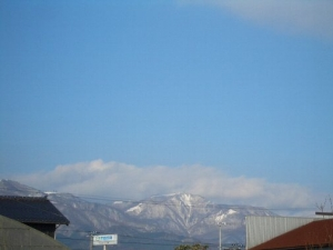 金北山の雪景色