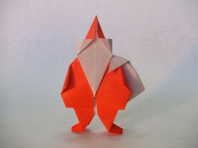 サンタクロースの折り紙が ... : 折り紙 顔 : すべての折り紙