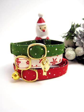 クリスマス用 猫首輪