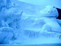 いちばん最初に出会った雪像