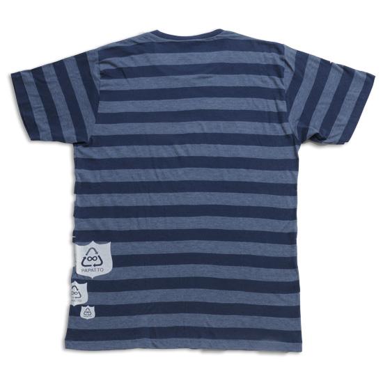 ボーダーエンブレムTシャツ メンズ/アオ バック