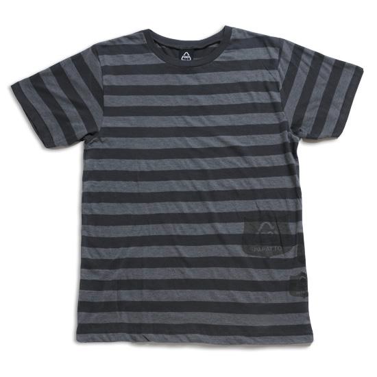 ボーダーエンブレムTシャツ メンズ/クロ