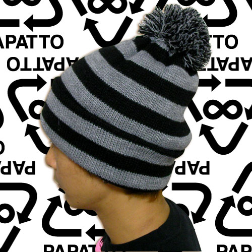 PAPATTO border knit cap 08AW-PPT03