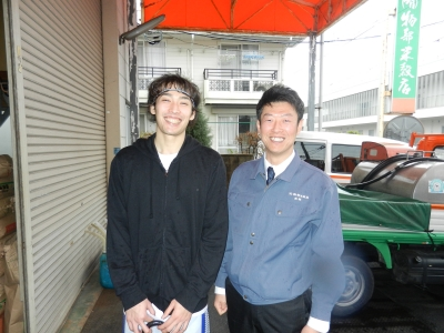 横尾選手と店長