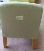 椅子の張替え - 後ろにワンポイント
