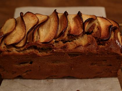 そば粉とりんごのケーキ