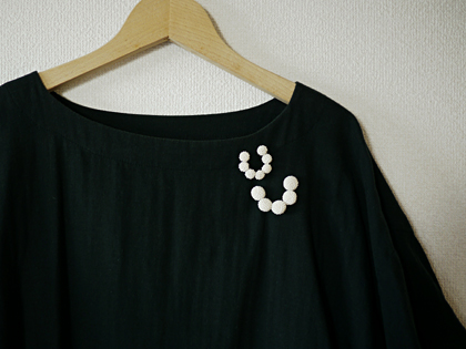 maru/ chain brooch-2