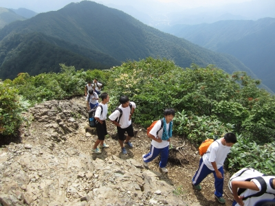 キャンプ実習 登山