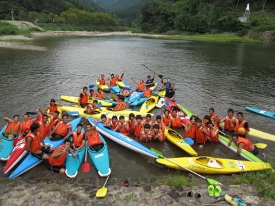 キャンプ実習 カヌー