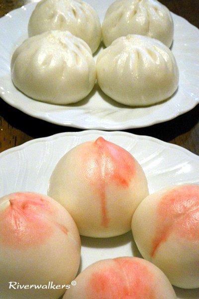 叉焼饅と桃饅