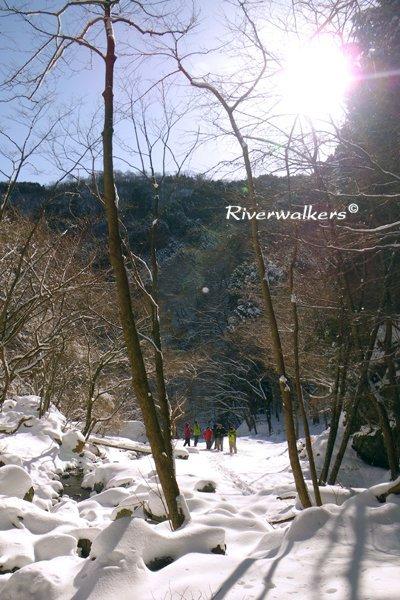 雪原遊び!
