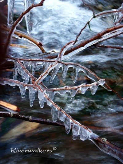 凍てつく流れ