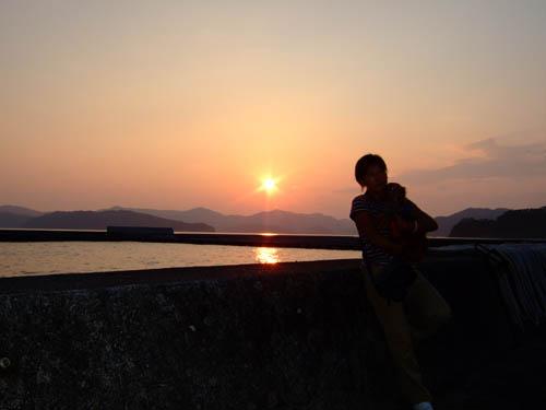 綺麗や夕陽やなぁ〜