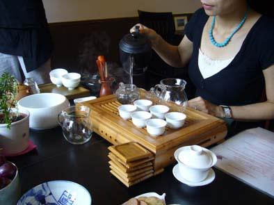 弊店でのお茶会。楽しく和やかに。