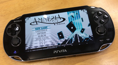 AMNESIA V Editionメニュー画面