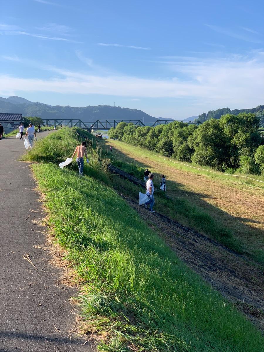 2019年 令和元年 高知のドコモショップ いの町民祭仁淀川まつり CSR活動 清掃活動